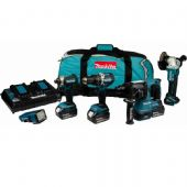 Makita DLX5042PT LXT 18V Brushless Li-Ion 5 Piece Kit (3 x 5 Ah Batteries)